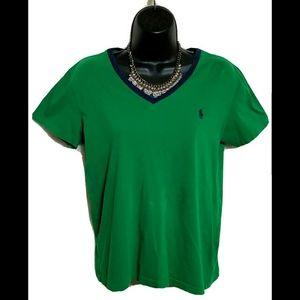 VTG 90s Polo Ralph Lauren Sport V Neck T-shirt M